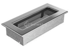 Решетка для камина Kratki 11х24 никелированная. Фото 2