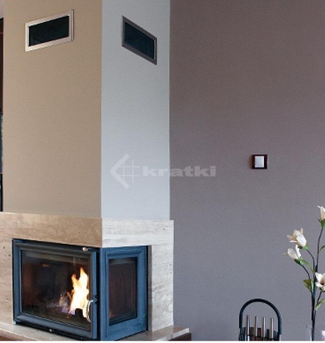 Решетка для камина Kratki 11х42 никелированная. Фото 4