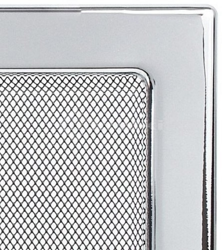 Решетка для камина Kratki 17х17 никелированная. Фото 3