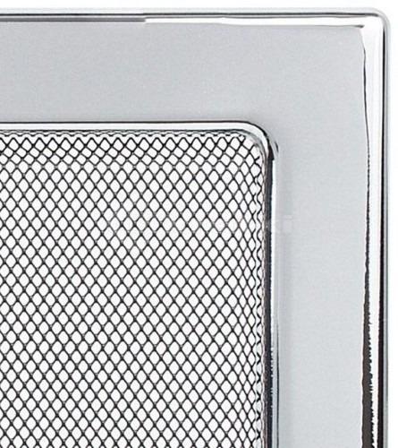 Решетка для камина Kratki 17х37 никелированная. Фото 3