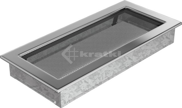 Решетка для камина Kratki 17х37 никелированная. Фото 2