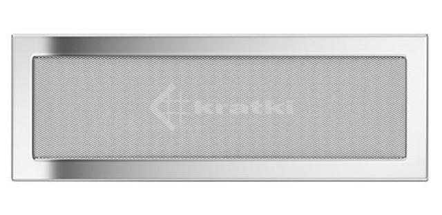 Решетка для камина Kratki 17х49 никелированная