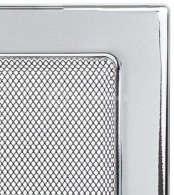 Решетка для камина Kratki 17х49 никелированная. Фото 3