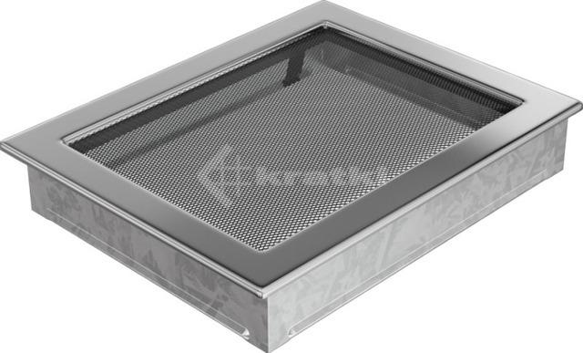 Решетка для камина Kratki 22х30 никелированная. Фото 2