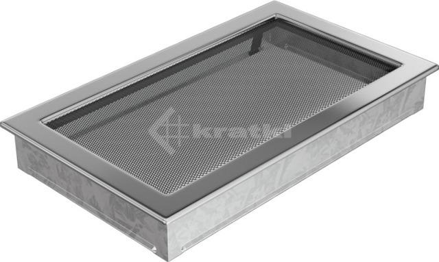 Решетка для камина Kratki 22х37 никелированная. Фото 2