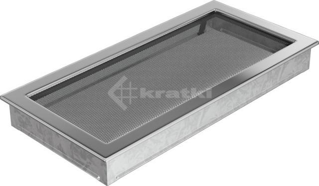Решетка для камина Kratki 22х45 никелированная. Фото 2