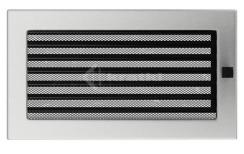 Решетка для камина Kratki 17х30 шлифованная, с жалюзи
