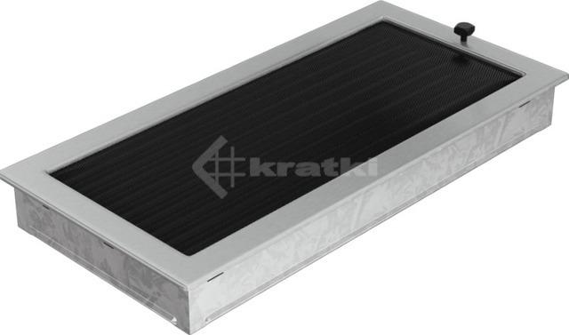 Решетка для камина Kratki 22х45 шлифованная, с жалюзи. Фото 2