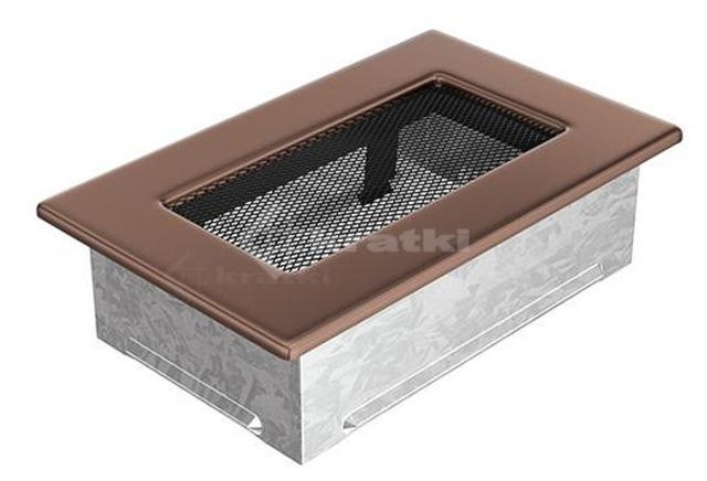 Решетка для камина Kratki 11х17 медь гальваническая. Фото 2