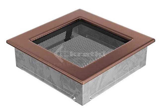 Решетка для камина Kratki 17х17 медь гальваническая. Фото 2