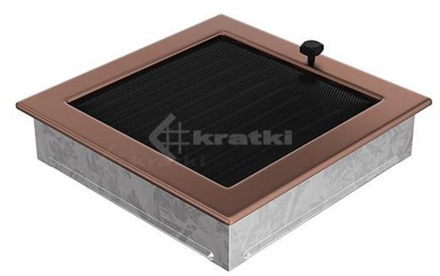 Решетка для камина Kratki 22х22 медь гальваническая, с жалюзи. Фото 2