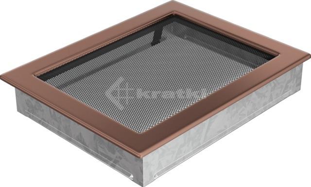 Решетка для камина Kratki 22х30 медь гальваническая. Фото 2
