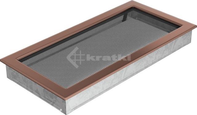 Решетка для камина Kratki 22х45 медь гальваническая. Фото 2