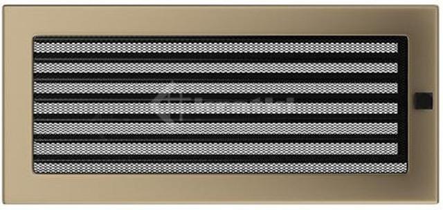Решетка для камина Kratki 17х37 золото гальваническое, с жалюзи