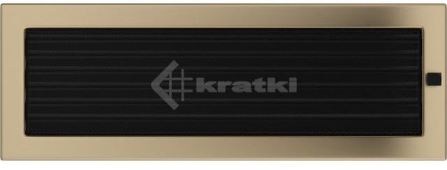 Решетка для камина Kratki 17х49 золото гальваническое, с жалюзи. Фото 2
