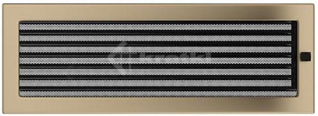 Решетка для камина Kratki 17х49 золото гальваническое, с жалюзи