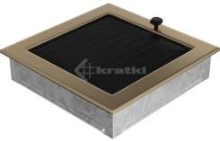 Решетка для камина Kratki 22х22 золото гальваническое, с жалюзи. Фото 3