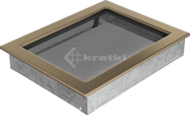 Решетка для камина Kratki 22х30 золото гальваническое. Фото 2