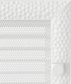 Решетка для камина Kratki Venus 17х17 белая, с жалюзи