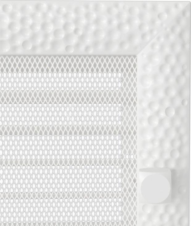 Решетка для камина Kratki Venus 17х30 белая, с жалюзи