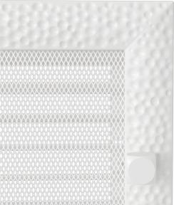 Решетка для камина Kratki Venus 22х45 белая, с жалюзи