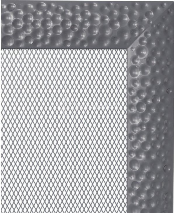 Решетка для камина Kratki Venus 11x11 графитовая