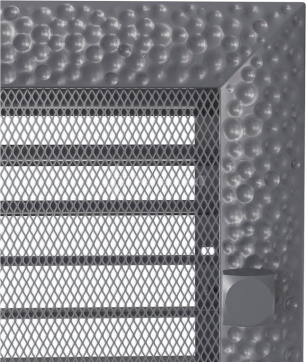 Решетка для камина Kratki Venus 17х17 графитовая, с жалюзи