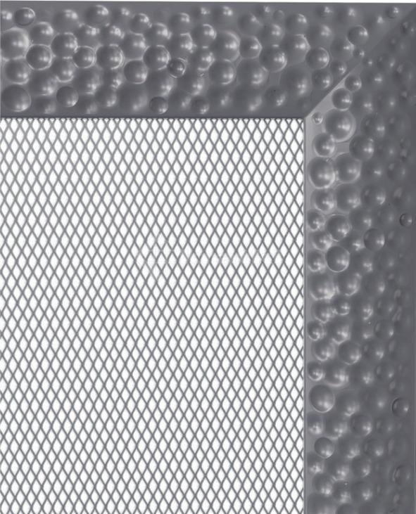 Решетка для камина Kratki Venus 17х30 графитовая