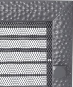 Решетка для камина Kratki Venus 22х22 графитовая, с жалюзи