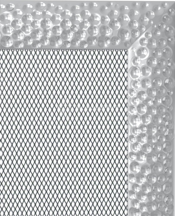 Решетка для камина Kratki Venus 17х30 никелированная