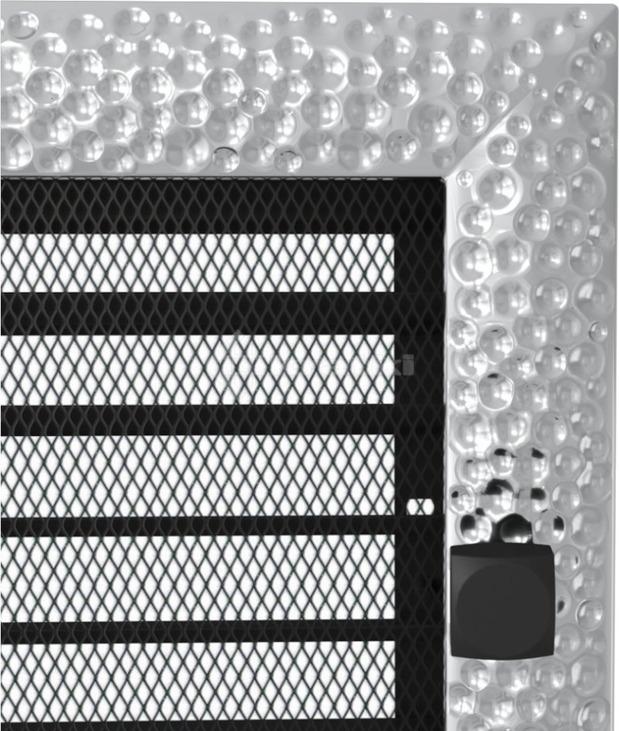 Решетка для камина Kratki Venus 17х37 никелированная, с жалюзи