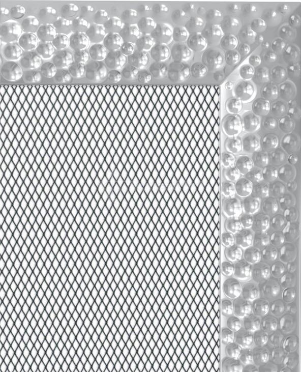 Решетка для камина Kratki Venus 17х49 никелированная