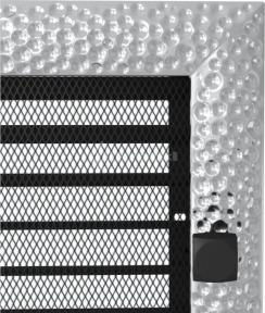 Решетка для камина Kratki Venus 22х22 никелированная, с жалюзи