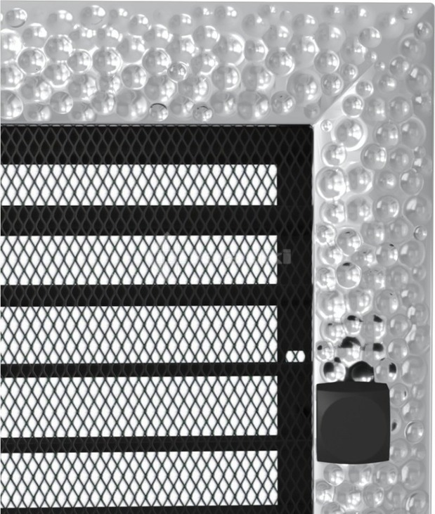 Решетка для камина Kratki Venus 22х30 никелированная, с жалюзи