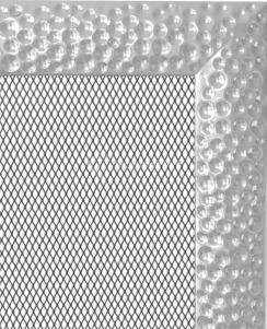 Решетка для камина Kratki Venus 22х45 никелированная