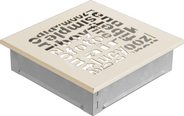 Решетка для камина Kratki ABC 17х17 кремовая. Фото 2