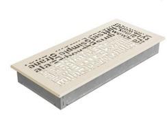 Решетка для камина Kratki ABC 17х37 кремовая. Фото 2