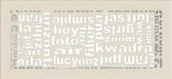 Решетка для камина Kratki ABC 17х37 кремовая