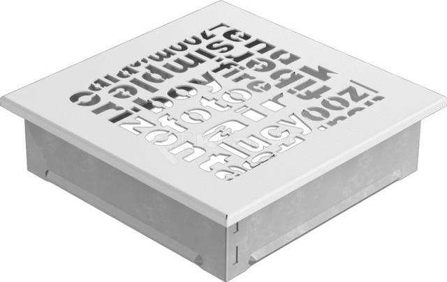Решетка для камина Kratki ABC 17х17 белая. Фото 2
