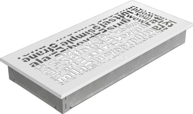 Решетка для камина Kratki ABC 17х37 белая. Фото 2