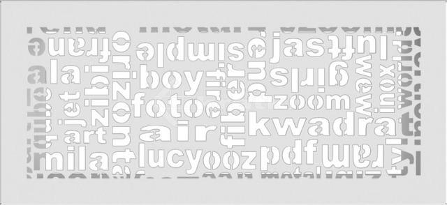 Решетка для камина Kratki ABC 17х37 белая