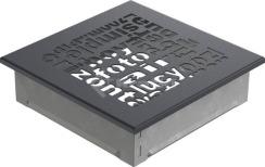 Решетка для камина Kratki ABC 17х17 графитовая. Фото 2