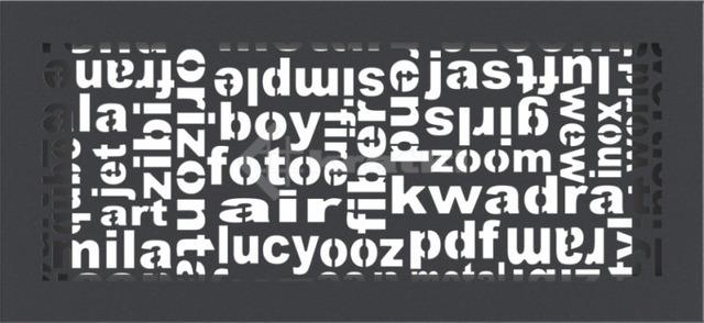 Решетка для камина Kratki ABC 17х37 графитовая