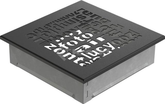 Решетка для камина Kratki ABC 17х17 черная. Фото 2