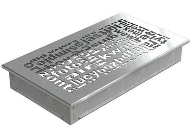 Решетка для камина Kratki ABC 17х30 шлифованная. Фото 2
