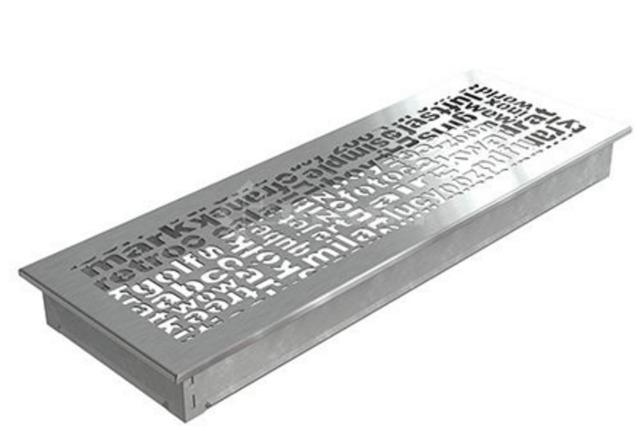 Решетка для камина Kratki ABC 17х49 шлифованная. Фото 2