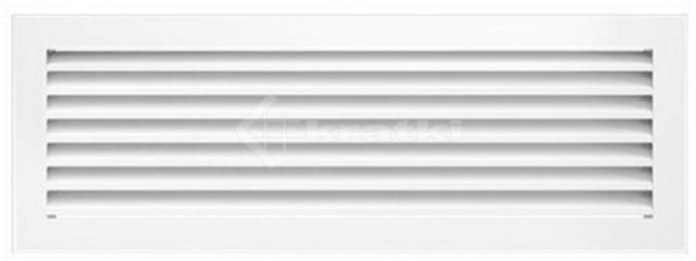 Решетка для камина Kratki Fresh 17х37 белая. Фото 2