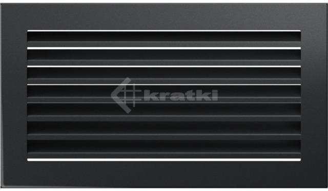 Решетка для камина Kratki Fresh 17х30 графитовая