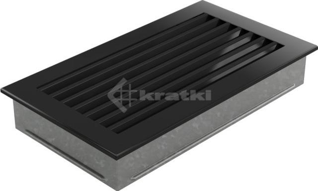 Решетка для камина Kratki Fresh 17х17 черная. Фото 3