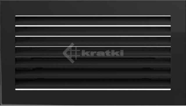 Решетка для камина Kratki Fresh 17х17 черная. Фото 2